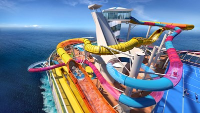 Royal Caribbean's Navigator of the Seas getting water coaster