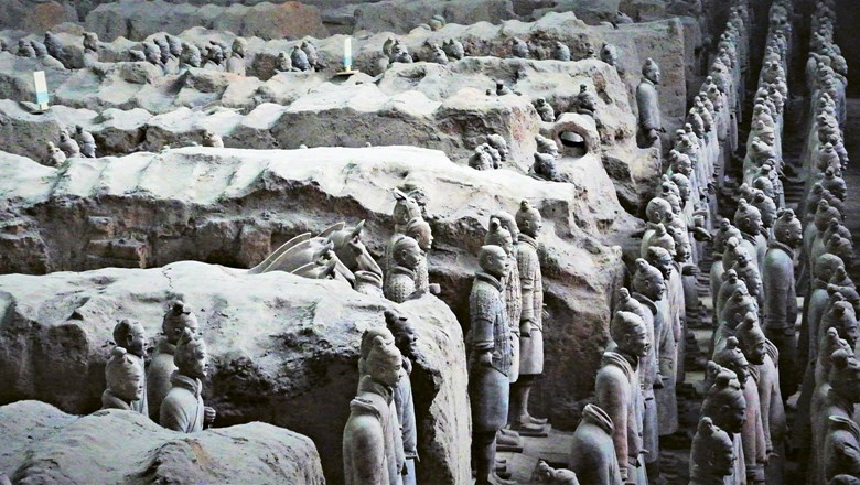 The Terracotta Army is part of a massive mausoleum complex that was one of China's first Unesco sites.