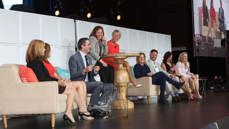 Top sales and marketing executives from several major lines on the Mastermind Sales and Marketing Secrets of Success panel.