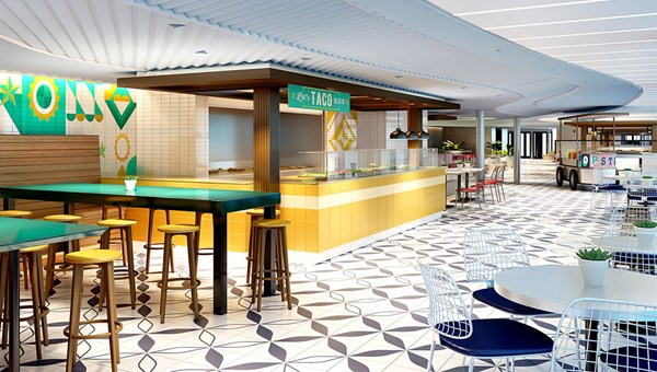 The Galley will have several food stations.