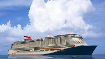 Carnival's upcoming LNG-fueled ship gets splash of color
