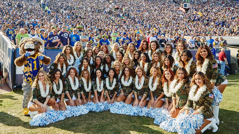 The Hawaiian Islands served as the presenting sponsor of the Nov. 11 Rams-Seahawks game at the L.A. Memorial Coliseum.