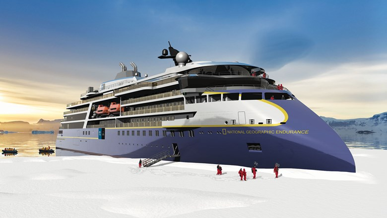 Slated for delivery in 2020, the 126-guest National Geographic Endurance will be Lindblad's first polar build.