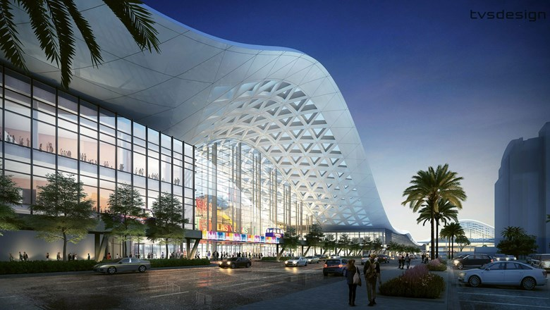 A rendering of the Las Vegas Convention Center expansion.