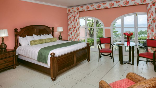 A guestroom with ocean views at the resort.
