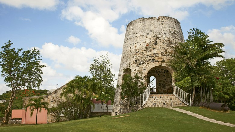 A sugar mill from the early 1700s at the Buccaneer on St. Croix.