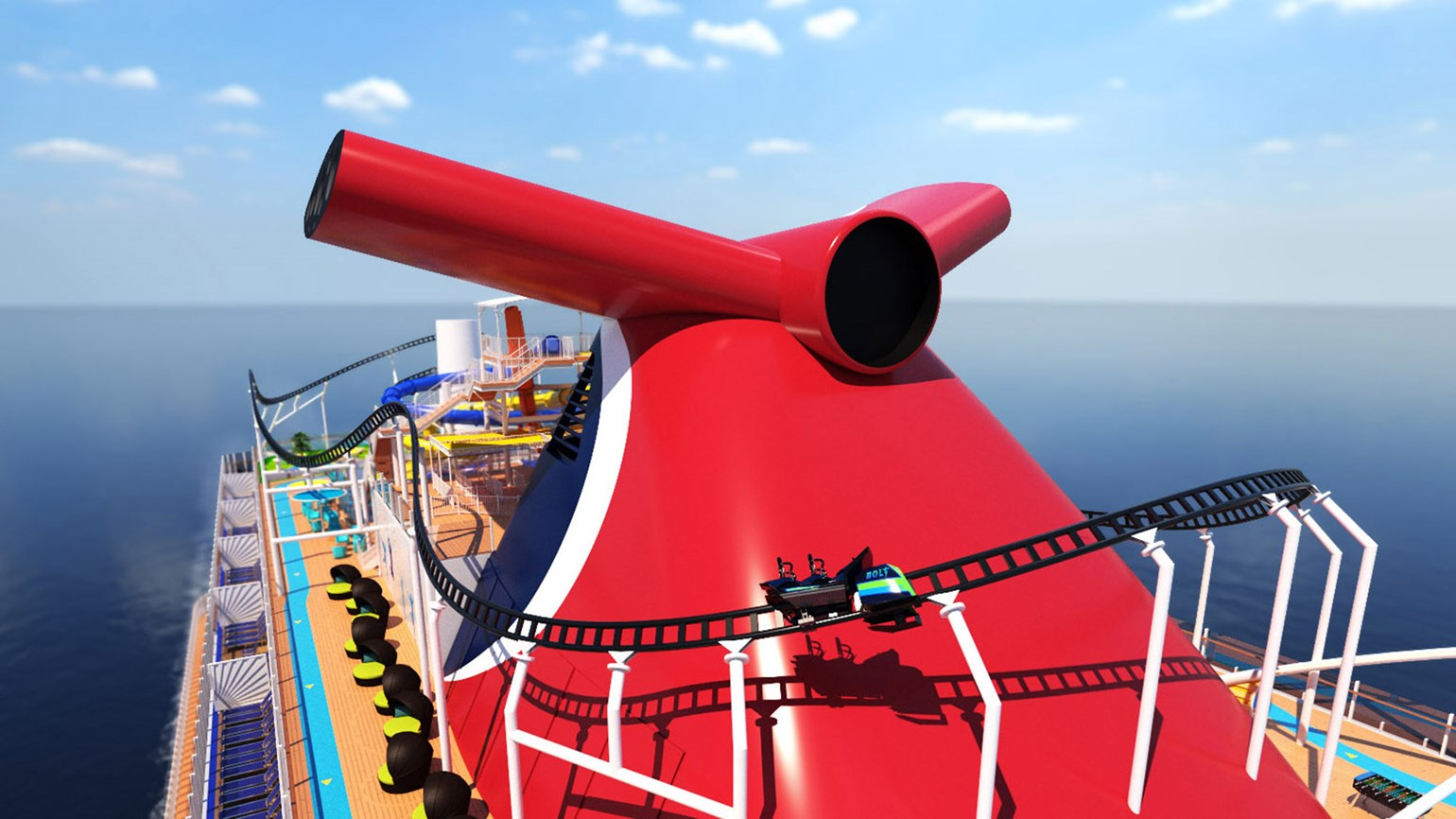 Carnival ship to have roller coaster