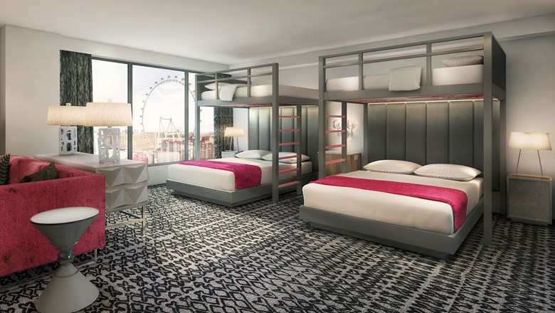 Flamingo Bunkbed Rooms Can Draw A Crowd Travel Weekly Awesome Cosmopolitan 2 Bedroom City Suite Concept Property