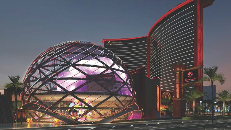 A rendering of the Resorts World Las Vegas.