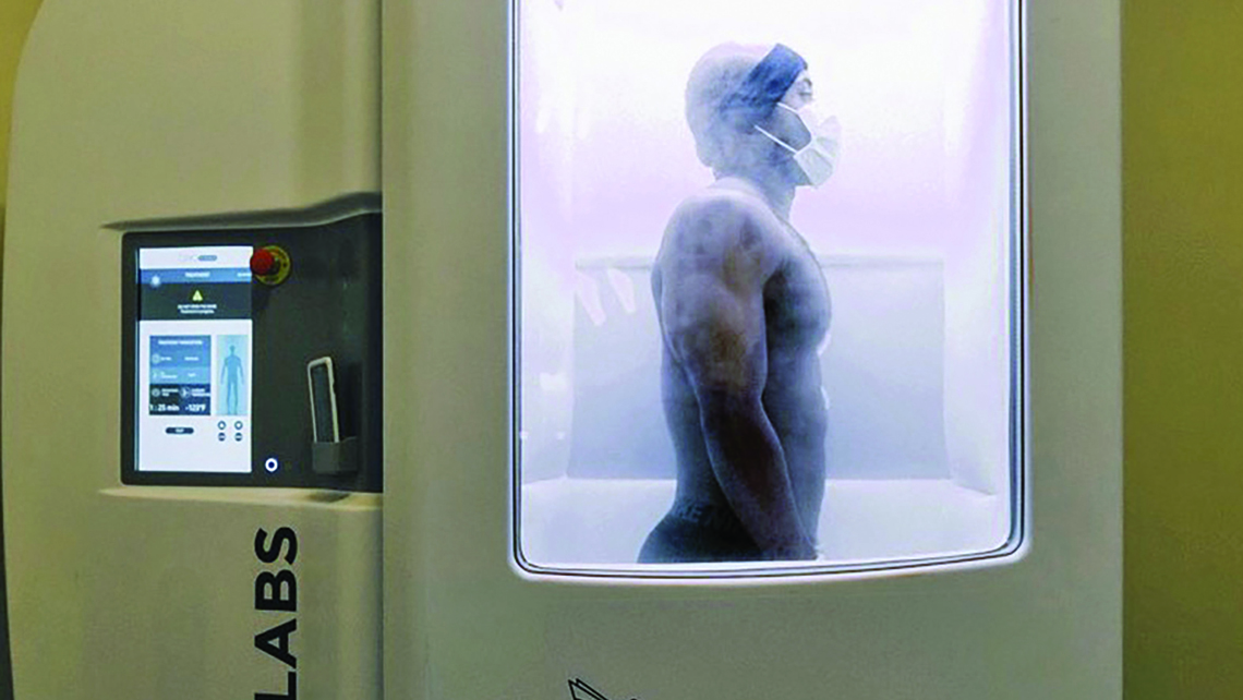 Full-body cryotherapy at Upgrade Labs.