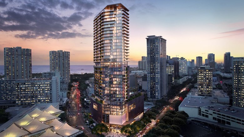 Work will begin in early 2019 on a new 36-story tower in Honolulu that will house the 125-room Mandarin Oriental Hotel and the 99 condominiums of The Residences at Mandarin Oriental Honolulu.