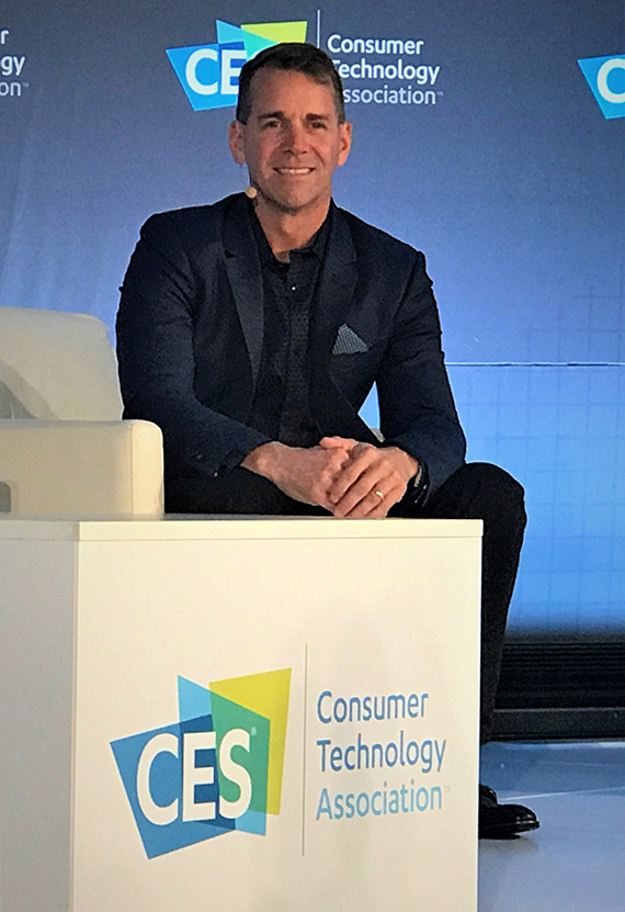 "John Padgett, chief experience and innovation officer for Carnival Corporation, on the panel ""Technology's Innovators and Disruptors"" at CES in Las Vegas earlier this month."