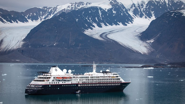 The Silver Cloud in Svalbard, Norway.