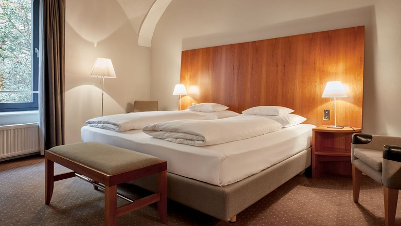 One of the new guestrooms at Das Trieste in Vienna.