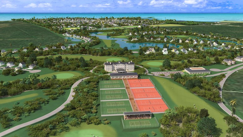 A rendering of the development planned for the Bahamian Out Island of Long Island.