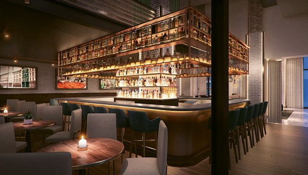 Hotel Distil, which is set to open in Louisville later this year, will feature more than 100 bourbons at its steakhouse.