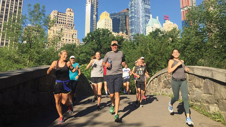 A Fit Tours NYC sightseeing run through Central Park.