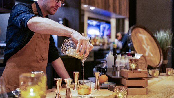 The newly opened Bourbon Bar at the Hilton Austin offers guests innovative cocktail options like a build-your-own Old Fashioned.