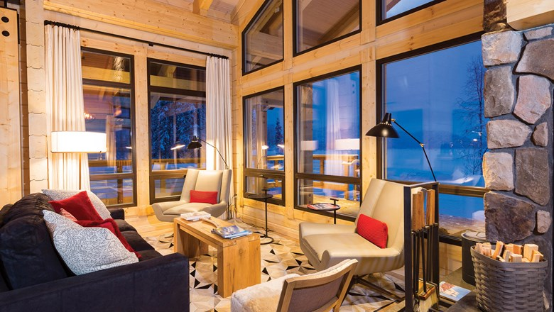 The Moose Hall chalet made its debut this winter at Tordrillo Mountain Lodge.
