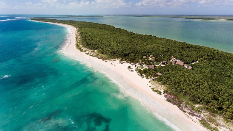Mukan is the first luxury eco-resort in the Yucatan peninsula's Sian Ka'an biosphere reserve.