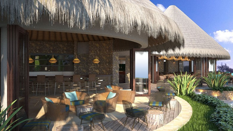 One of the resort's restaurants -- Sea. Fire. Salt. -- will offer courtyard and beachside dining.