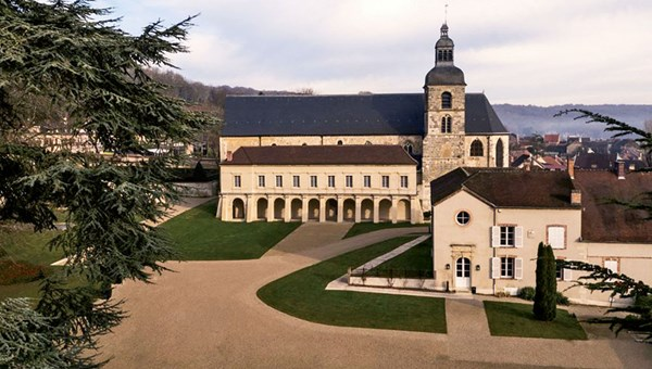 The Abbey of Hautvillers, where the monk Dom Perignon lived and worked.