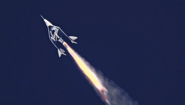 Virgin Galactic's VSS Unity spaceship zoomed into space on Feb. 22 with three aboard.
