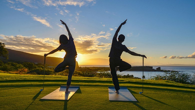 Four Seasons Resort Lanai introduced a series of Zen Sports Wellness programs at the end of 2018, including a golf series.