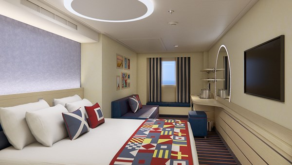 The roomier Family Harbor accommodations will be located near Camp Ocean and have access to the Family Harbor Lounge.