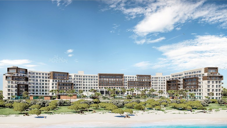 A rendering of Embassy Suites by Hilton Aruba Resort. The 330-suite resort is scheduled for a mid-2021 debut.