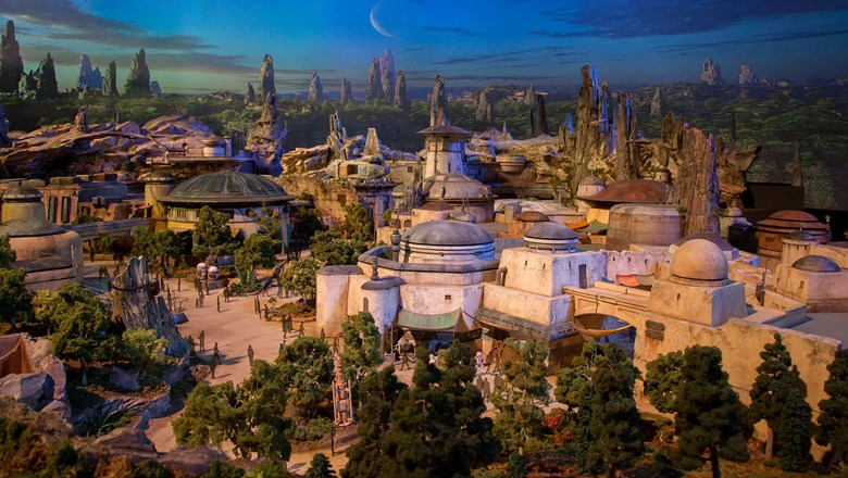 An artist's rendering of Disney's Star Wars: Galaxy's Edge.