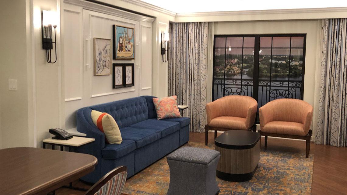 Model of a villa accommodation at Disney's Riviera Resort.
