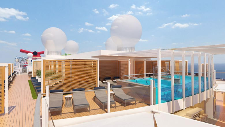 Loft 19 will have an infinity pool, bar service, 108 sun loungers and 12 cabanas available for rent.