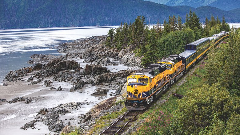 Alaska Railroad's new South to the Sea package travels from Anchorage to Seward on the Coastal Classic Train.