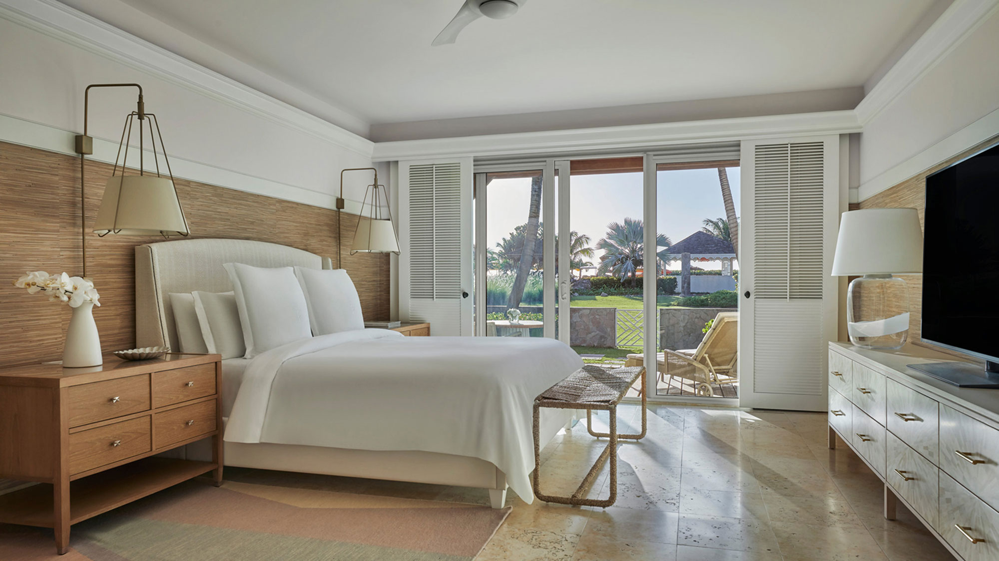 The Four Seasons Resort Nevis added new suites during its first phase of renovations.