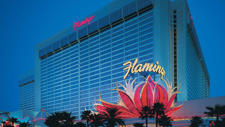 Caesars attributed Las Vegas growth to an uptick in gaming revenue. Pictured, the Flamingo Las Vegas Hotel & Casino.