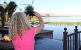 Alison Crummy of Failte Ireland snaps a photo of the views over Lake Las Vegas at the closing reception.