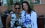 Yolanda Brown of UnCruise Adventures, left, and Tamara Lidbom of Anytime Travel Agency at the closing reception.