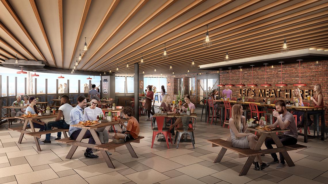 Portside BBQ will be an indoor/outdoor restaurant.