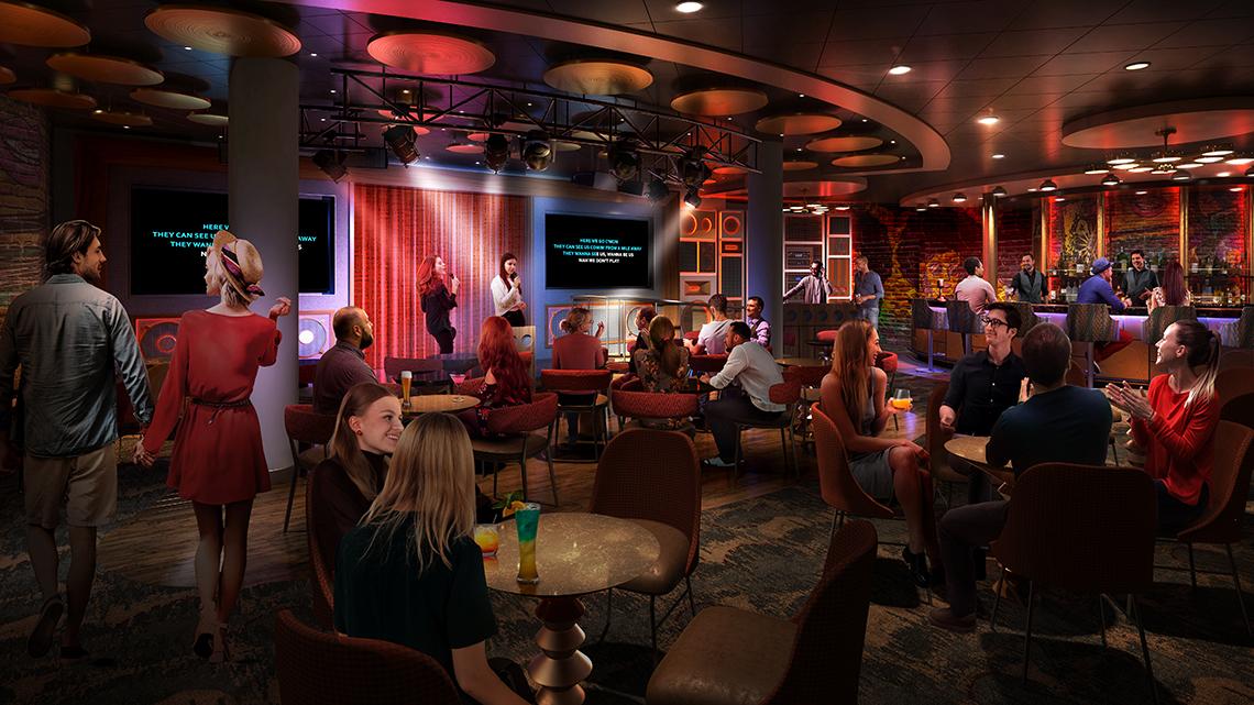 Spotlight Karaoke will be Royal Caribbean's first dedicated karaoke venue.