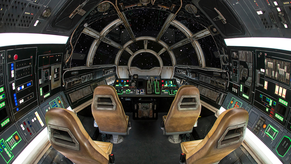 On the ride, guests will channel their inner Han Solo and Chewbacca to take the controls.