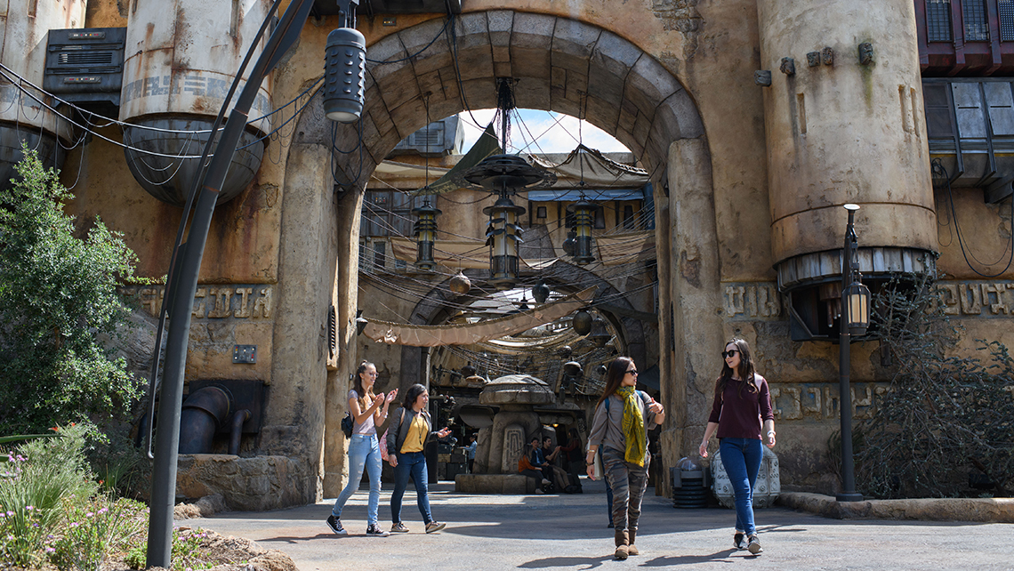 Guests will be able to wander the marketplace of Black Spire Outpost and encounter a collection of merchant shops and stalls filled with authentic Star Wars creations.
