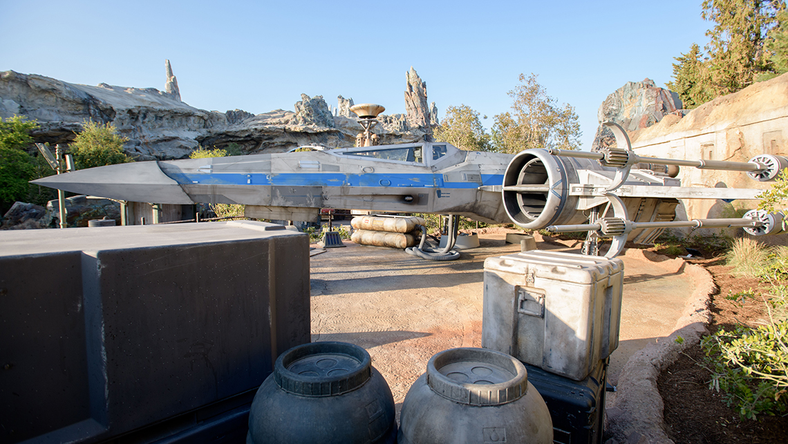 Guests will encounter an X-wing Starfighter located at the Resistance Mobile Command Post.