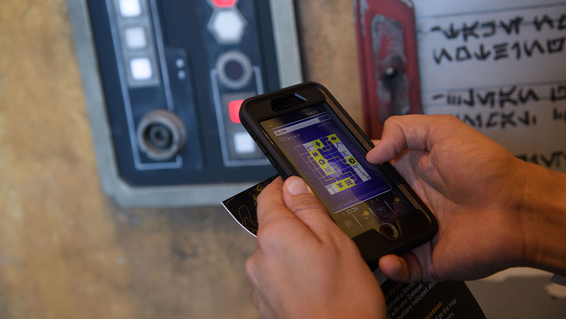 Star Wars: Galaxy's Edge is the first land within a Disney park designed to integrate with the Play Disney Parks mobile app, which debuted last year. After downloading the Play Disney Parks app, users will be able to transform it into their very own Star Wars: Datapad.