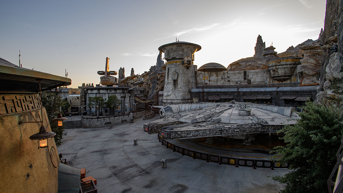 """Right on opening day, guests can take off on the """"Millennium Falcon: Smugglers Run"""" attraction. The """"Star Wars: Rise of the Resistance"""" attraction is set to open later in the year."""