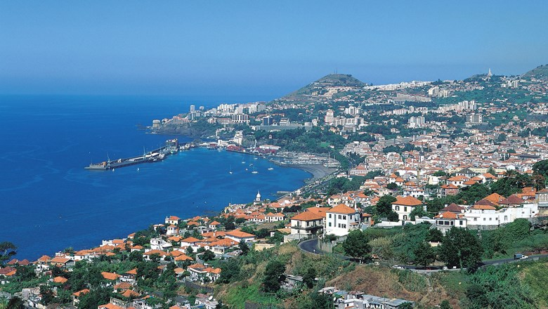 The Bay of Funchal on Madeira.