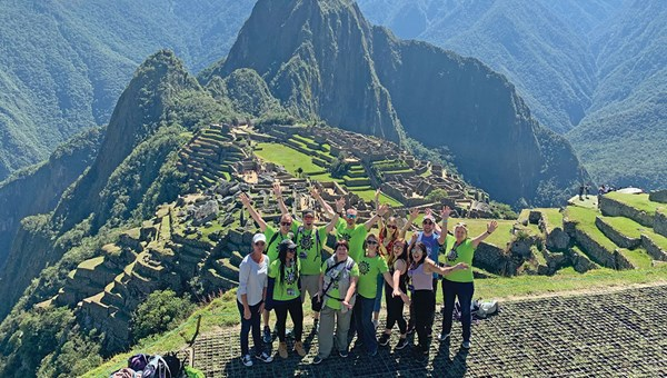 Change Makers Summit participants at Machu Picchu.