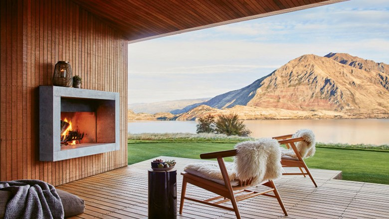 An Airbnb Luxe property in Wanaka, New Zealand.