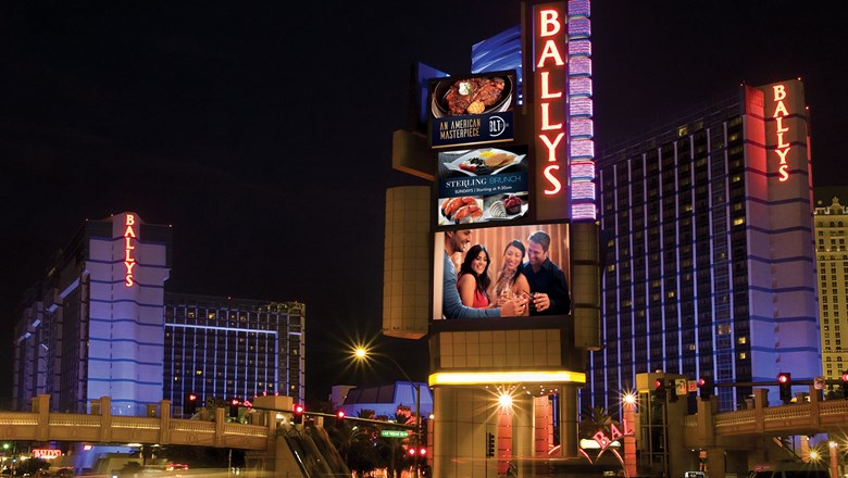 The Bally's Las Vegas, a Caesars Entertainment resort casino.