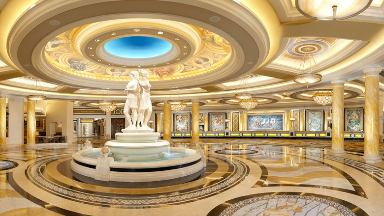 The lobby at the Caesars Palace Las Vegas.